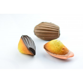 ASSORTIMENT de madeleinettes MELANGEES 3 chocolats Noir/Lait/Orange