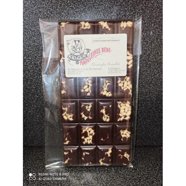 Tablette chocolat noir 70% avec riz soufflé 100gr