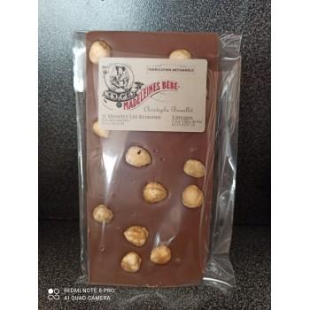 Tablette chocolat lait 29% avec noisettes 100gr