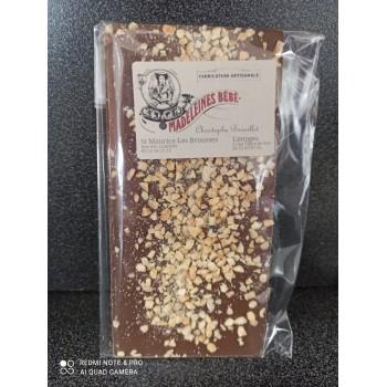 Tablette chocolat lait 29% avec amandes 100gr