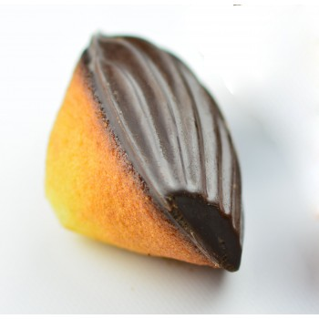 "6 GROSSES CHOCOLAT NOIR 70% madeleinettes ""MADELEINE BEBE"""