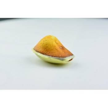 "6 GROSSES CHOCOLAT BLANC 35% / FRAISE madeleinettes ""MADELEINE BEBE"""